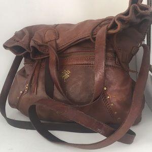 Lucky vintage leather hobo bag